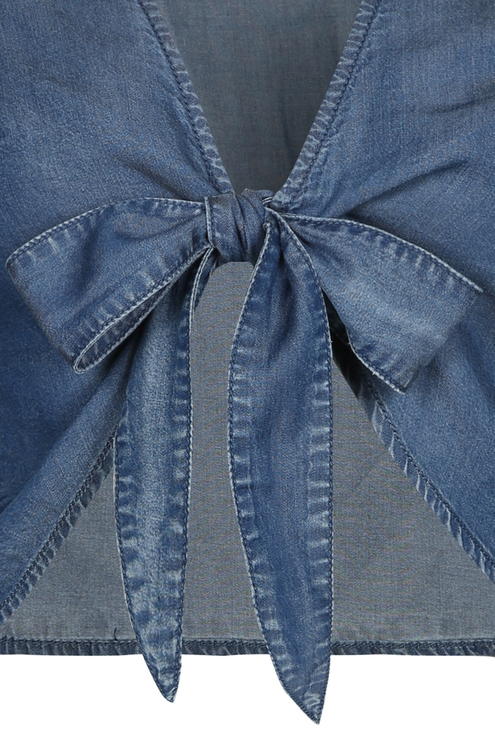 Denim Top zum Binden