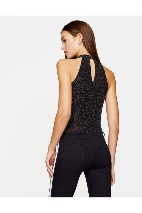 Black Glitter Bodysuit