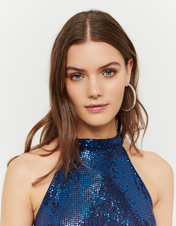 Blue Glittered Top