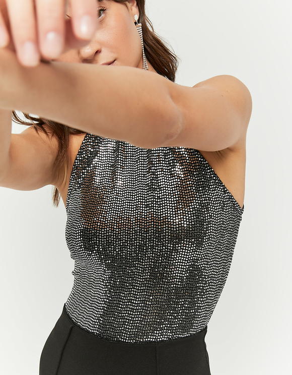 Black Glittered Top