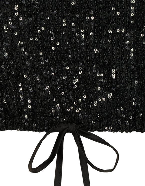 Black Sequins Top