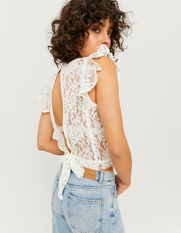 Lace Open Back Blouse