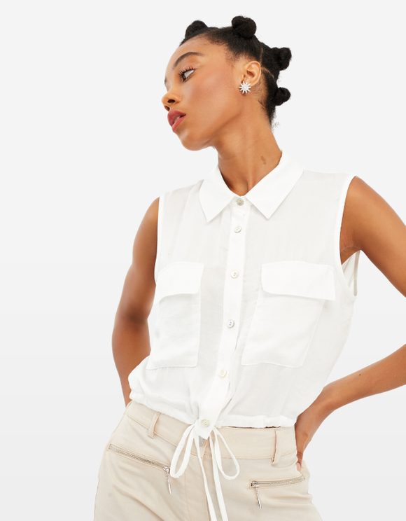 White Utility Shirt