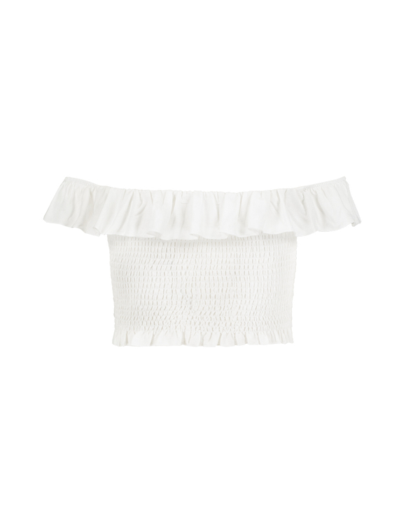 White Smocked Top