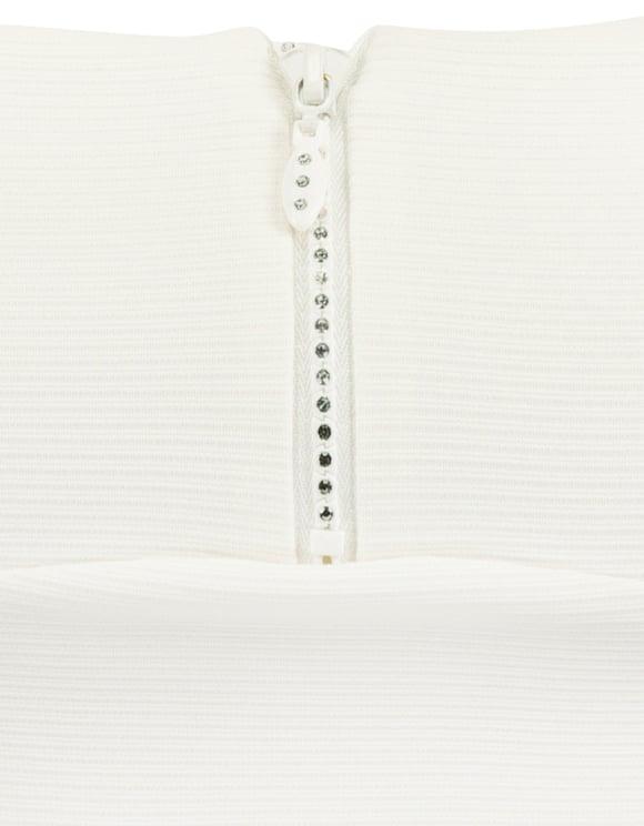 Top Corto Bianco con Pietre