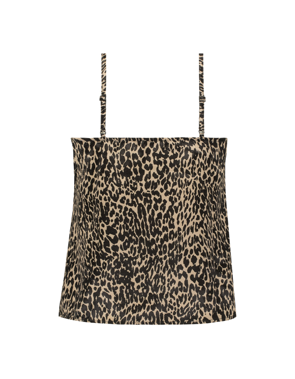 Leopard  Satin Tank Top