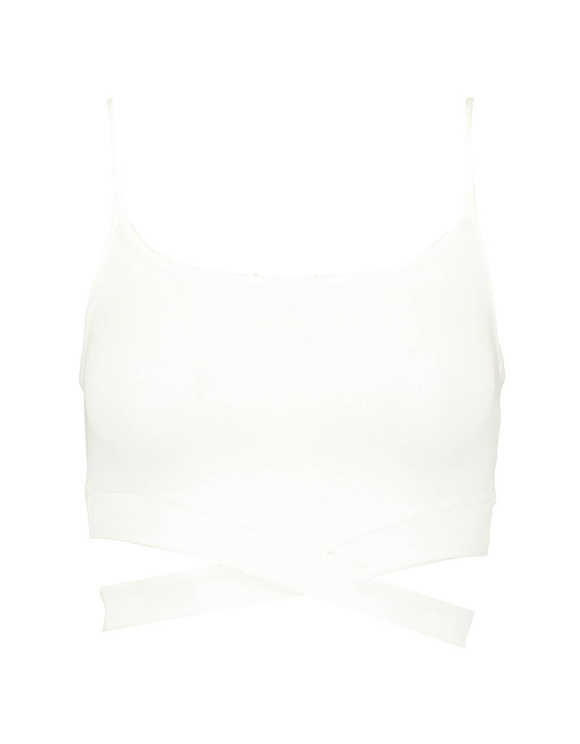 Crop Top Blanc à Découpes