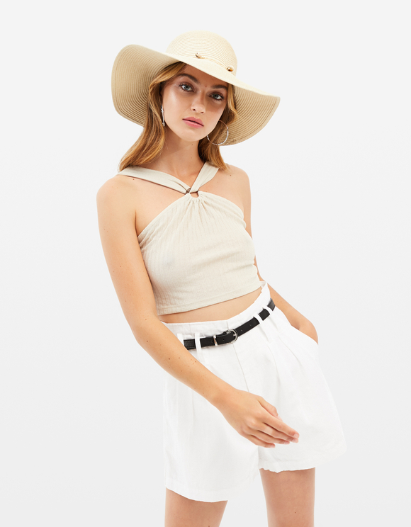 Ring Detail Halter Neck Top