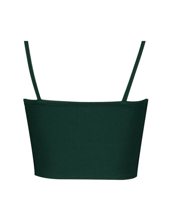 Crop Top Vert Cache-Cœur