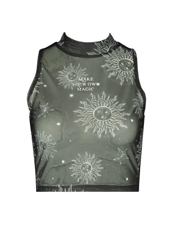 Celestial Sun Print Top