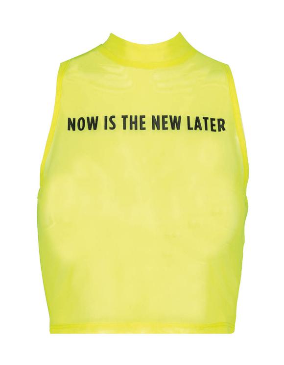 Neon Yellow Top in Mesh