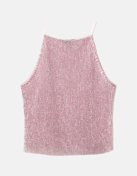 Pink Glitter & Sequins Top