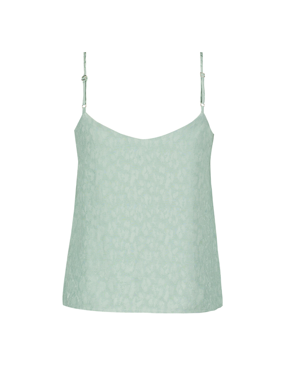 Green Leopard Jaquard Camisole