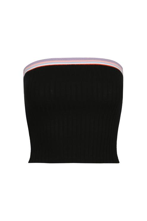 Black Bandeau Top