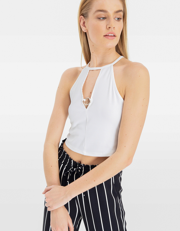White Top with Cut Out