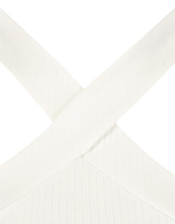 Top Bretelles Croisées Blanc