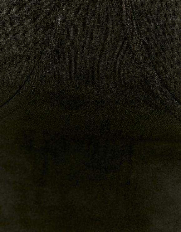 Schwarzer BH aus Wildlederoptik