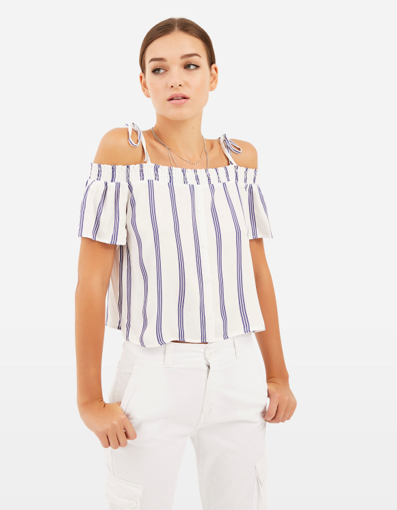 Off the Shoulder stripe Top