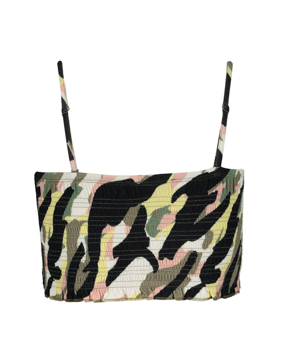 Bandeau-Top mit Camouflage Design