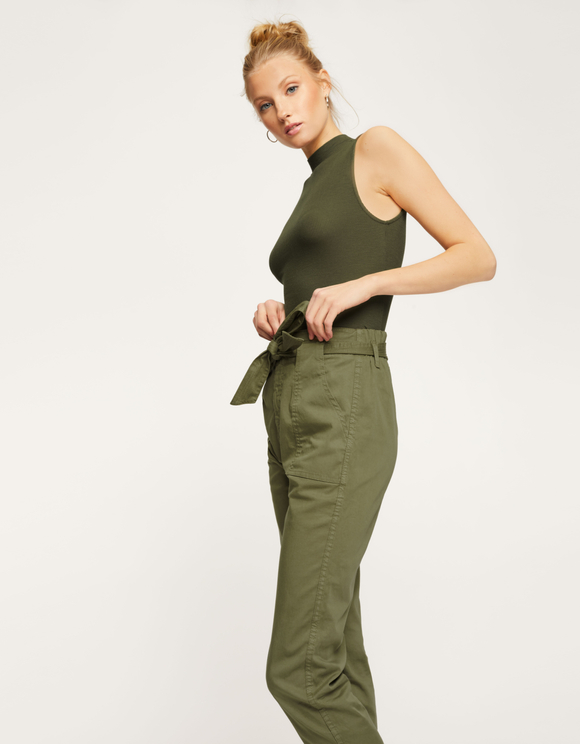 Khaki Sleeveless Top