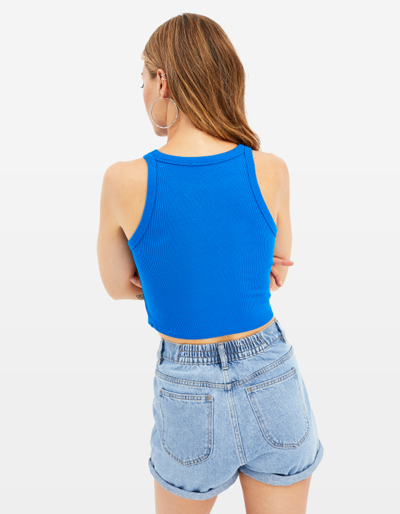Crop Top Bleu