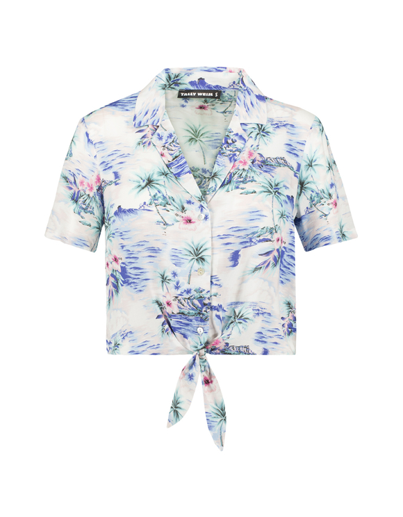 Blue Tropical Blouse