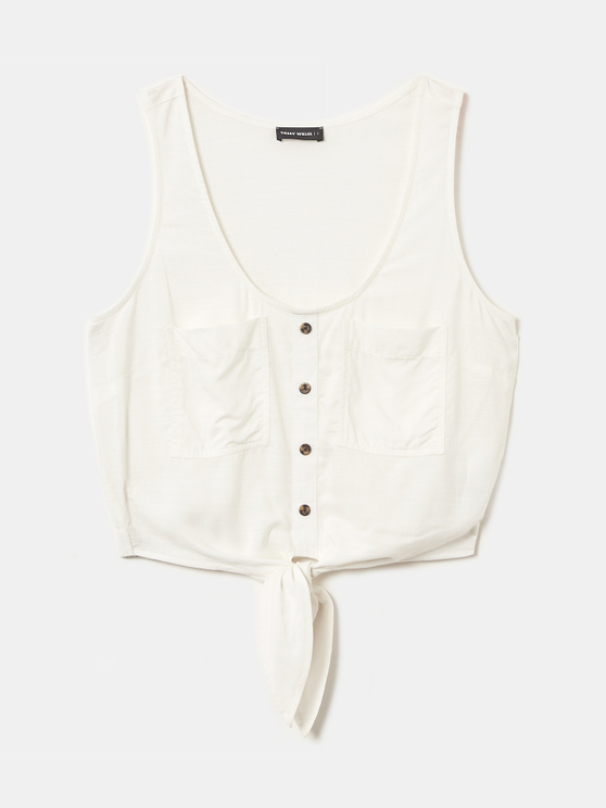 Top Sans Manches Blanc