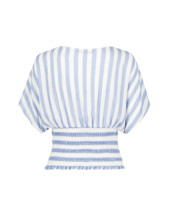 Smocked Blouse in Stripe