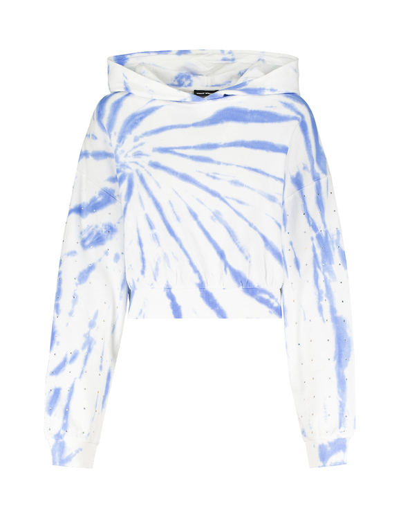 Sweat à Capuche Tie & Dye avec Strass