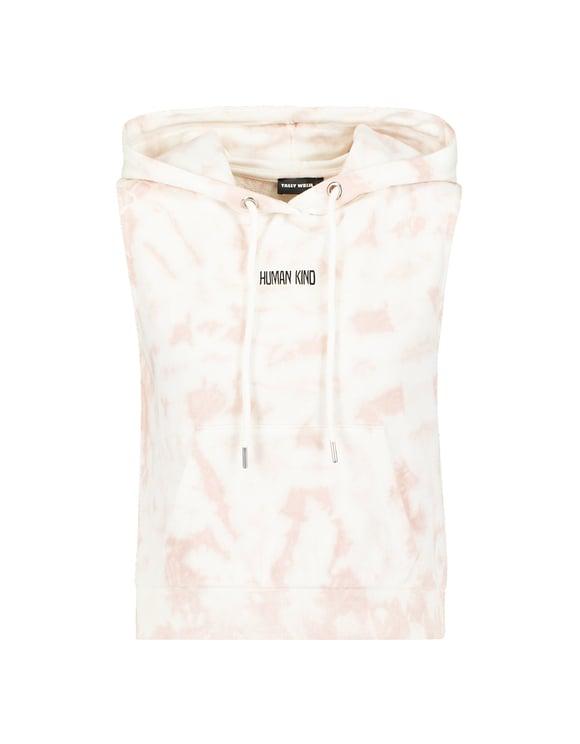 Pink Tie-Dye Sleeveless Hoodie