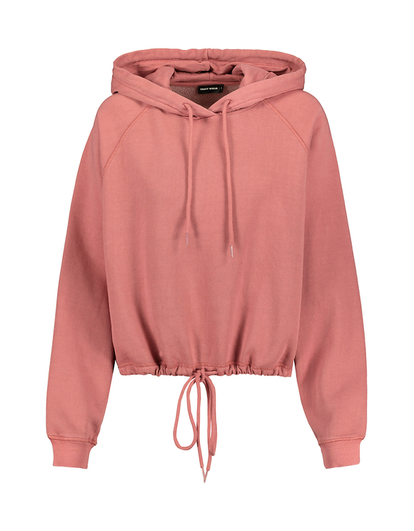 Pink Hoodie with Drawstring