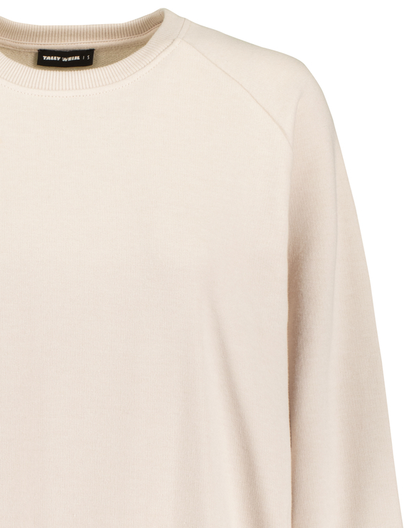 Beige Oversized Sweatshirt