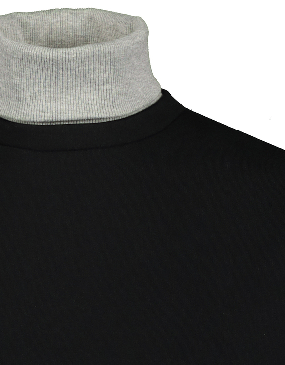 Black Sweatshirt with High Neck