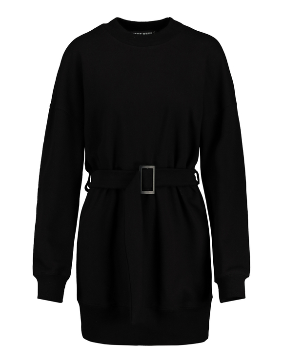 Schwarzes Sweatkleid