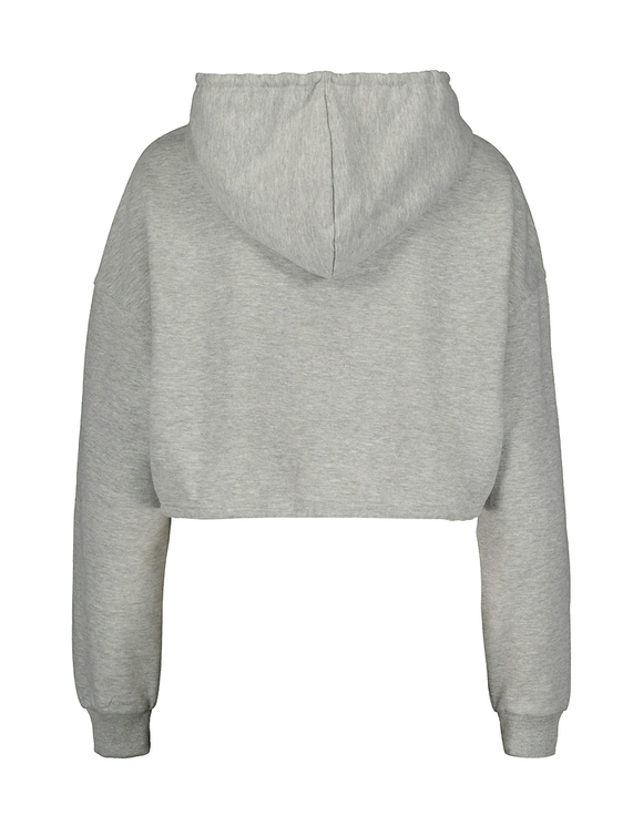 Sweat à Capuche Gris avec Cordon