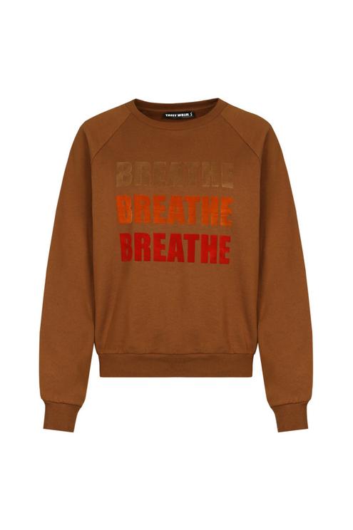 """Cognac """"Breathe"""" Sweatshirt"""