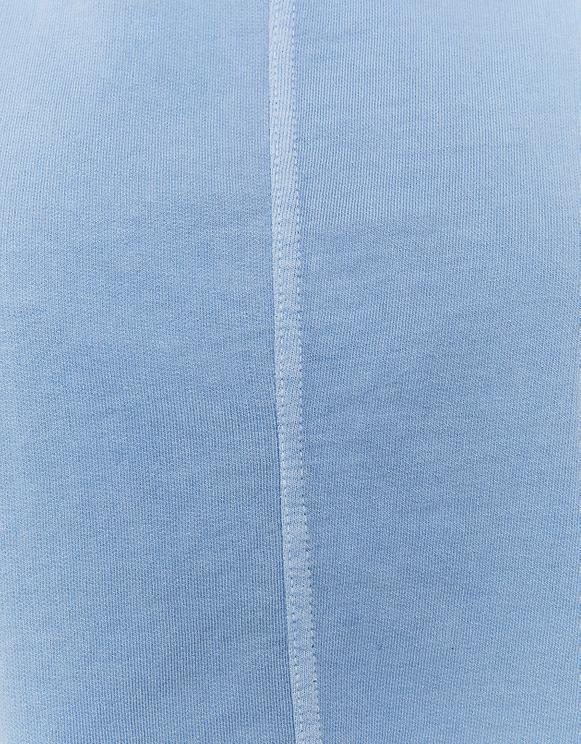 Blue Molleton Crop Top