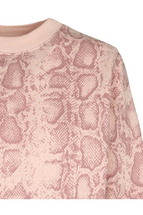 Pink Snake Print Sweatshirt