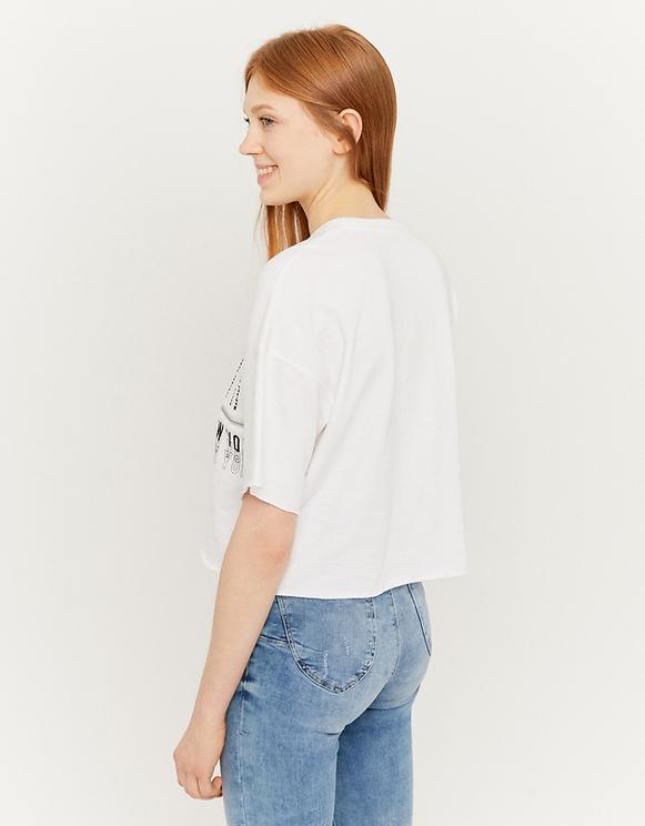 White Slogan Sweatshirt