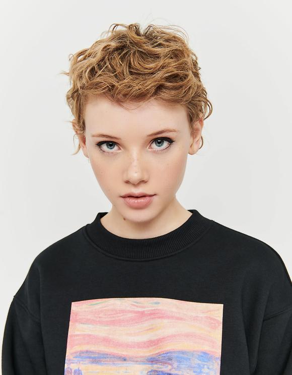 Black Sweatshirt with Meme