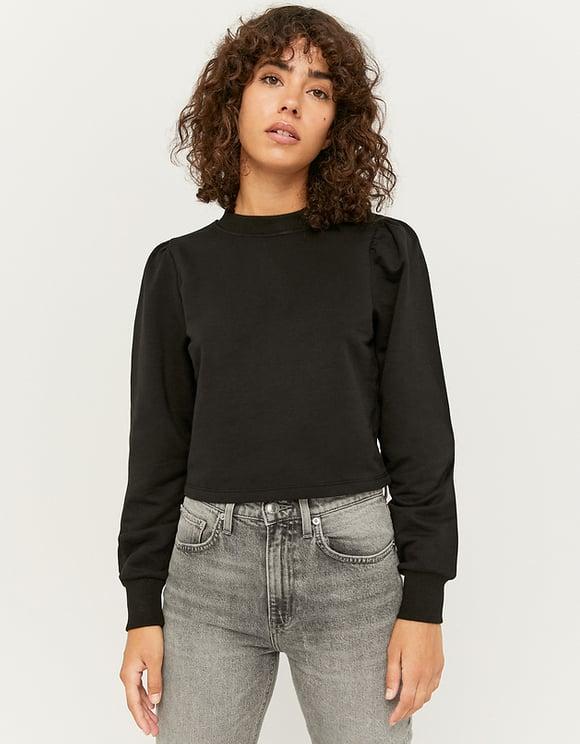 Schwarzes Sweatshirt mit Korsett Effekt | TALLY WEiJL Online