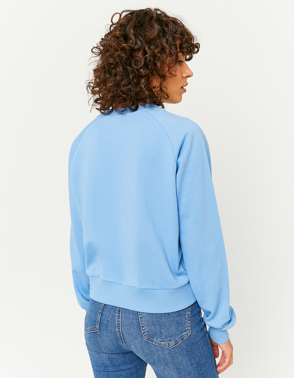 Blue Printed Sweatshirt