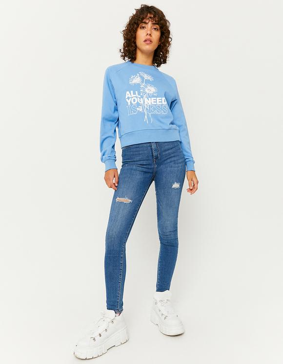 Niebieska bluza z nadrukiem
