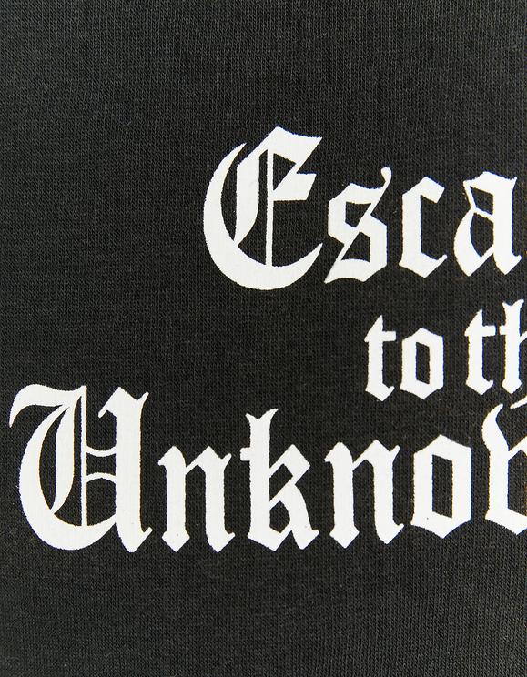 Black Printed Oversize Hoodie