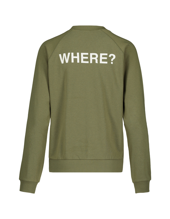 Khaki Sweatshirt with Slogan