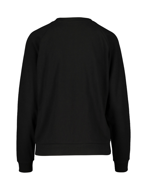 Black Sweatshirt with Slogan