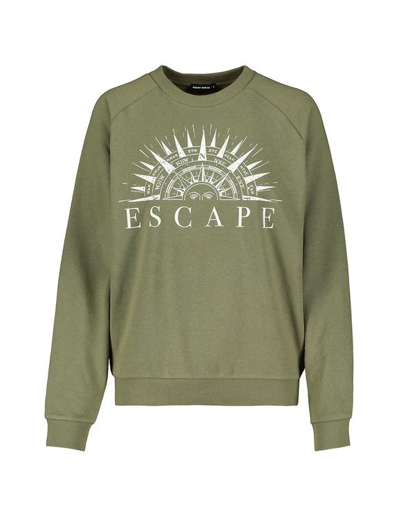 Khaki Sweatshirt mit Aufdruck