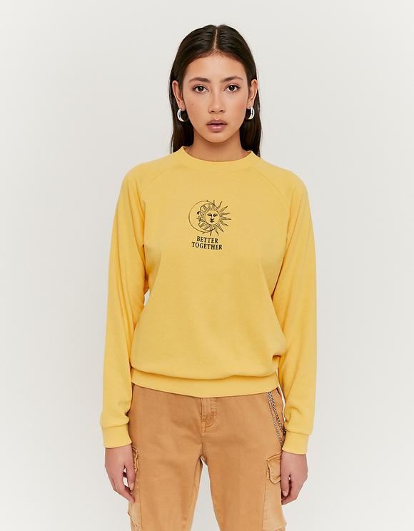 Gelbes Sweatshirt mit Aufdruck | TALLY WEiJL Online Shop
