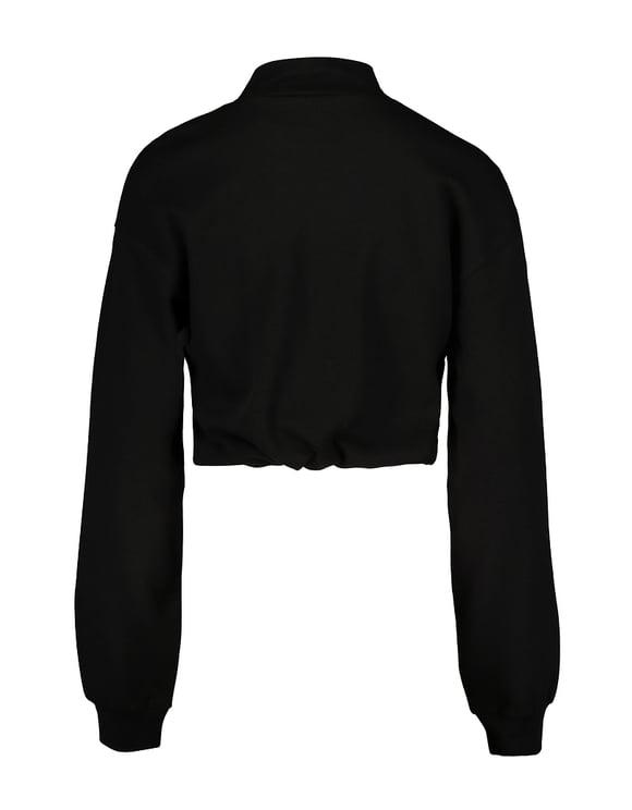 Black Sweatshirt with Drawstring