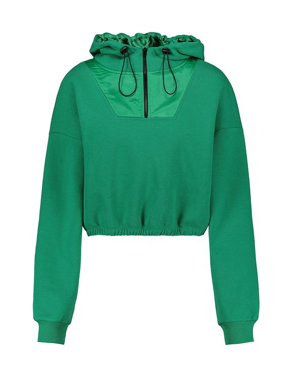 Felpa Verde con Cappuccio